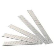 Yongshida Small Retractable Razor Knife Blades 7.9cm X0.90cm Colour Silvery Pack of 30