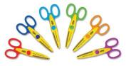 School Smart Paper Edger Scissors - Set of 6 - Assorted Colours