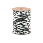 Berwick Wraphia Zebra Animal Print Matte Paper Craft Ribbon, 100-Yard Spool, Black/White