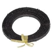 Ribbon Black Glitter Plastic Craft Ribbon 1.3cm x 23'