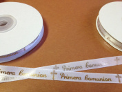 1cm X 25 Yards Primera Comunion Continuous Printed Ribbon for Communion Favours