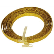 Ribbon Antique Gold Plastic Craft Ribbon 1.3cm x 23 Feet