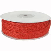 Red Colour Jute Ribbon on Spool, 10 yards