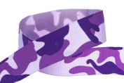 Hip Girl Boutique 5 YD 2.2cm Camouflage Ribbon-Grosgrain--Purple