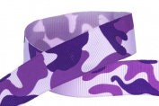 Hip Girl Boutique 5 YD 2.2cm Camouflage Ribbon-Grosgrain--Purple