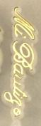 48 Plastic Cake Topper Mi Bautizo Sign White w/ Gold Baptism Favour Decorations