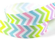 5yd 2.2cm Chevron Grosgrain Ribbon--Easter/Pastel