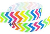 5yd 2.2cm Chevron Grosgrain Ribbon--Neon