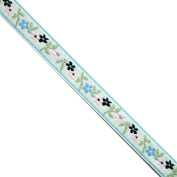 "5 yards 7/16"" WIDE 12mm Flowers Jacquard Ribbon Trim"