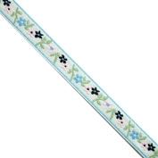 "5 yards 7/16"" WIDE 12mm Flowers Jacquard Ribbon Trim"
