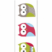 Offray Woodland Owl Craft Ribbon, 2.2cm x 9-Feet, White
