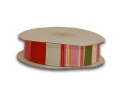 C004 Grosgrain Ribbon Cheque Design 1.6cm 25 Yards