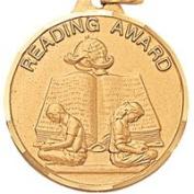 3.2cm Reading Award with Ribbon TE9905GC
