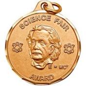 3.2cm Science Fair Award with Ribbon TE9999C