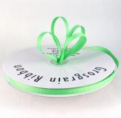0.6cm Neon Green Grosgrain Ribbon 50 Yards Spool Solid Colour.