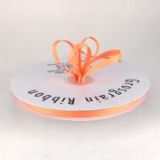 0.6cm Light Peach Grosgrain Ribbon 50 Yards Spool Solid Colour.