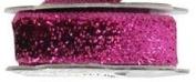 Hip Girl Boutique 5yd 2.5cm Metallic Velvet Ribbon--Hot Pink