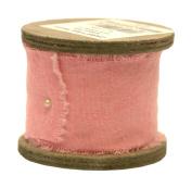 Raw Muslin Ribbon - Antique Pink - 5.1cm W X 9.8 Ft. Per Roll
