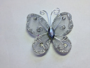 12 Pcs 5.1cm Silver Organza Butterflies Craft Wedding Party Decoration