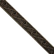 """5 yards 9/16"""" WIDE 15mm Waves Metallic Jacquard Ribbon Trim"""