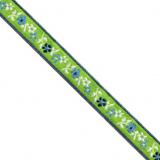 "5 yards 1/2"" WIDE 13mm Flowers Jacquard Ribbon JR284"