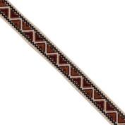 "5 yards 9/16"" WIDE 14mm Geometric Woven Jacquard Ribbon Trim Tape"