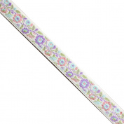"5 yards 1/2"" WIDE 13mm Flower Jacquard Ribbon JR298"