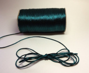 "100 Yards - 2mm(1/16"") Hunter Green Satin Rattail Cord Chinese/china Knot Rat Tail Jewellery Braid 100% Polyester"
