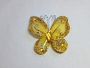 12 Pcs 7.6cm Gold Organza Butterflies Craft Wedding Party Decoration