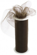 Kel-Toy Tulle Ribbon, 15cm by 25-Yard, Chocolate