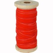 Fuschia Red Velvet Ribbon on Wood Spool, Vintage Style