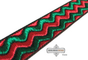 Home Decor Sari Border Thread Weaving Work Craft Fabric Decorative Lace Green Apparel Trim Indian 1 Yard Hand Crafted Ribbon Recycled Fabric.