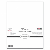The Paper Company, P62526, White Cardstock Value Pack, 8-1/2 by 11