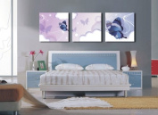 HUGE MODERN ABSTRACT WALL DECOR ART CANVAS PAINTING (No Frame)AAAA with Blue butterfly in the dream