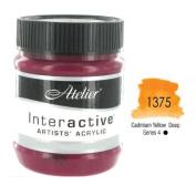 Chroma Atelier Interactive Acrylic - 250 ml Jar - Cadmium Yellow Deep