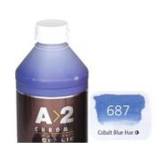 Chroma Art Student's A2 Acrylics Litre Bottles - Cobalt Blue Hue