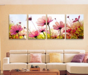 ASIA MODERN ABSTRACT WALL ART PAINTING ON CANVAS NEW Style ! (NO FRAME?with paintings of four pcs Flower like flowers forming