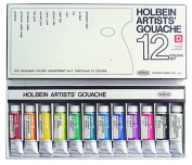 Holbein Artists Gouache Designer Set of 12, 15ml tubes