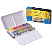 Sennelier Watercolour Metal Bx 12 Half Pan Set