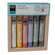 R & F Handmade Paints Pigment Sticks, Opaque Colours, Set Of 6