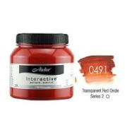 Atelier Interactive Transparent Red Oxide - 1 litre Bottle