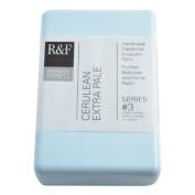 R & F Encaustic 333ml Paint, Cerulean Extra Pale