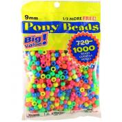 Pony Beads Multi-colour 6 x 9mm