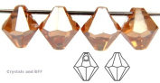 6mm Crystal Celsian Full, Czech Machine Cut Top Drilled Bicone Pendant (6301 Shape), 12 pieces