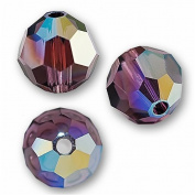 10 Round 4mm (5000. Crystal Beads AMETHYST AB.