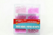 Crafters Square Pink Glass Bead 32 CREATE FUN DESIGN Jewellery Project Card