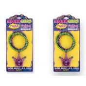 Mardi Gras Flashing Beaded Bracelet