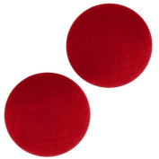 Lillypilly Anodized Aluminium Blank Circle Stamping Red 25mm