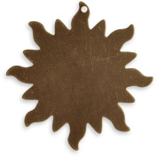Vintaj Natural Brass Altered Blank Stamping Dancing Sun Pendant 33mm