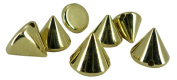 10mm Gold Acrylic Cone Spikes Beads Spots Punk Decoration Bracelet Pyramid Leather Craft Bags Flatbacks